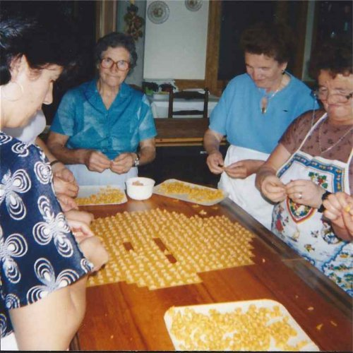 Ladies making tortellini