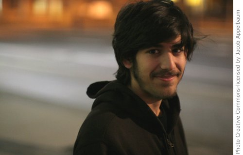 Aaron Swartz, Open Library. Photo by Jacob Applebaum