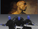 Tupac and blue man group