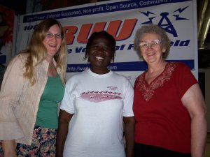 Author Olabisi Gwamna with Monica & Caroline
